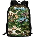 TTmom Schulrucksack,Schüler Bag,Rucksack Damen Herren Stylish Dinosaurs Bones Green Laptop Backpack...