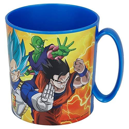 DB Dragon Ball Super – Taza Plástico 350ml Goku Vegeta Super Saiyan Azul