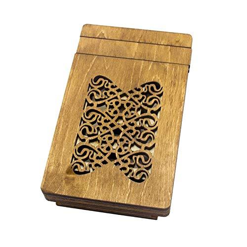 F Fityle Caja de Rompecabezas de Madera Juegos de Enigmas Regalo Caja de Almacenamiento de Joyería Oculta Juguetes
