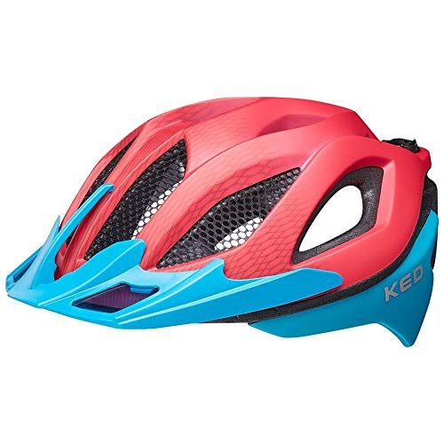 KED Spiri Two M red Blue - 52-58 cm - inkl. RennMaxe Sicherheitsband - Fahrradhelm Skaterhelm MTB BMX Erwachsene Jugendliche