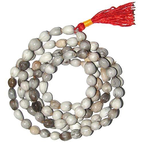 Rudradivine Natural Vaijanti Mala 108 + 1 Cuentas Mankas 100% Original Vajyanti Mantra Japa Paz y Tranquilidad Garantizada 100% Piedra Original