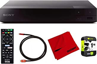 Sony BDP-S3700 Streaming Blu-ray Disc Player with Wi-Fi and Dolby TrueHD Audio Bundle with Deco Gear 6 ft High Speed HDMI 2.0 Cable and Microfiber TV Screen Cloth photo