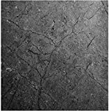 EZ FAUX DECOR Marble Self Adhesive Granite Matte Gray Soapstone Kitchen Countertop Cabinet Furniture Instant Update. Easy to Remove Thick Waterproof PVC Vinyl Laminate Film. Why Paint? (36' x 144')