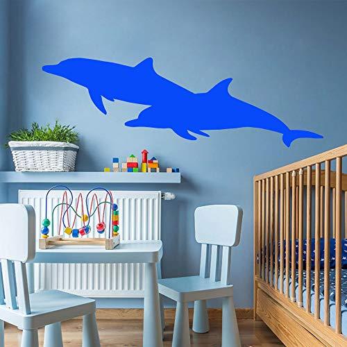 Diy Dolphin Home Decor Wandaufkleber für Baby Kinderzimmer Dekoration Wandkunst Aufkleber Braun M 28cm X 87cm
