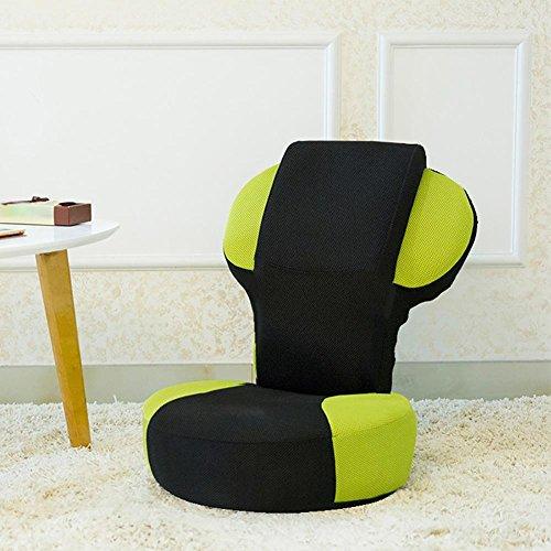 KSUNGB Respirant Fainéant Canapé Individuel Chaise Pliante Canapé d'étage Dossier de lit, Green