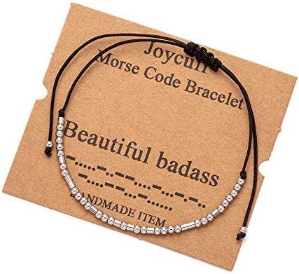 Joycuff Beautiful Badass Code Bracelets for Women Wife Girlfriend Mom Daughter Sister Funny product image