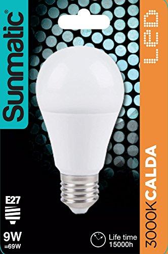 GP Lighting–GP Batteries ic-gp472136–Bombilla LED E27Blanco Cálido 9W 810LM Clase A +