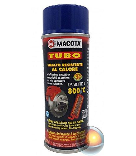 Macota - Pintura en spray color azul resistente a las altas temperaturas, para frenos, tubos de escape, pinzas, 400 ml