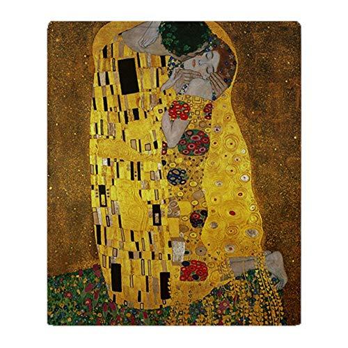 YISUMEI Decke Gustav Klimt Der Kuss Kuscheldecken Weich Flanell Fleecedecke Bettüberwurf(150x200cm)