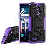 LG Stylo 3 Case, LG Stylo 3 Plus Case, OEAGO [Shockproof] [Impact Protection] Tough Rugged Dual Layer Protective Case with Kickstand for LG Stylo 3 / LG Stylo 3 Plus/LG Stylus 3 - Purple