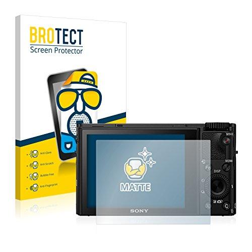BROTECT Protector Pantalla Anti-Reflejos Compatible con Sony Cyber-Shot DSC-RX100 IV (2 Unidades) Película Mate Anti-Huellas