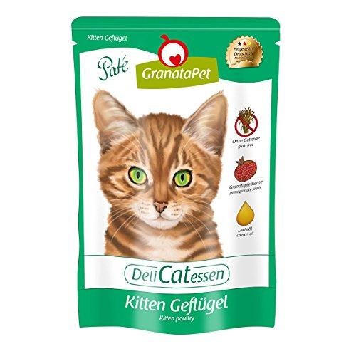 DeliCatessen Nourriture Humide Pouch Kitten Volaille, Lot de 12 (12 x 85 g)