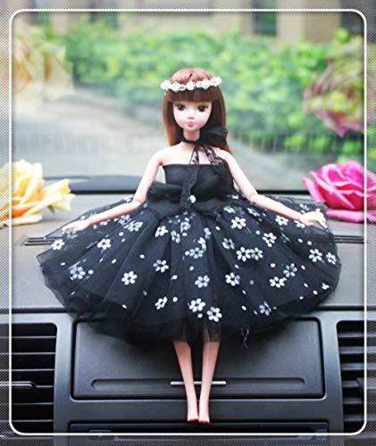 Zwarte Jurk Stijl Bruiloft Cake Topper Figurines Meisjes Verjaardag Cake Topper Bruids Douche Decoratie Meisjes Auto Decoratie