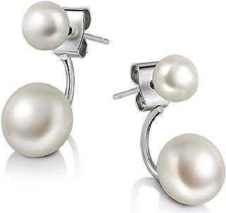 Mothers Day Gifts Joyfulshine Earrings Womens Freshwater Cultured Pearl Earrings 925 Sterling Silver Ear Jackets