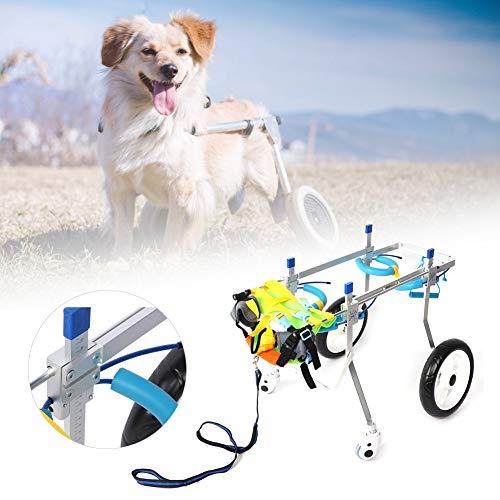 犬用4輪歩行器 ペット4輪車椅子 障害者犬 歩行補助 ウォークアシスタント 老犬介護 後肢 散歩車 練習車 ゴールデンレトリバー、ハスキーなど(L)