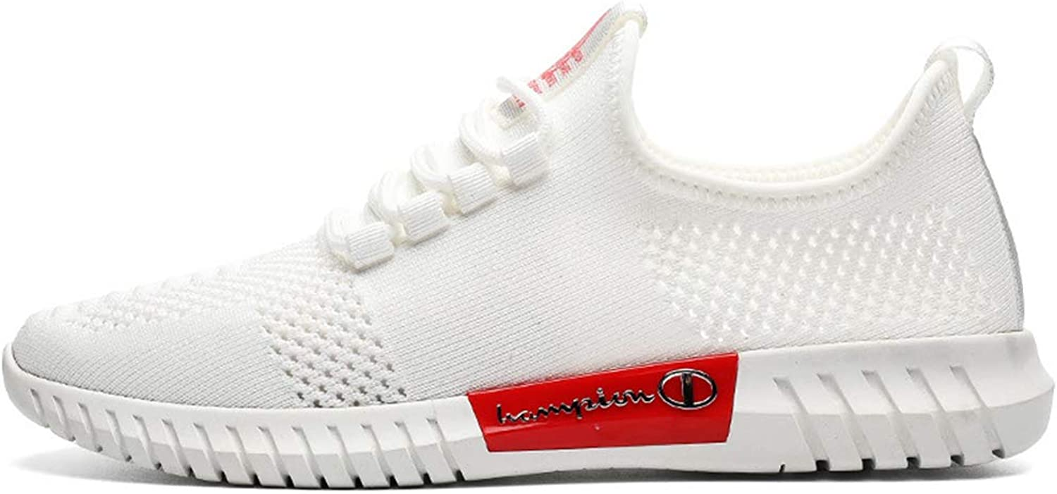 CAI-HY Sport shoes for Men Running shoes Mesh Breathable Fashion Sneakers,White,40