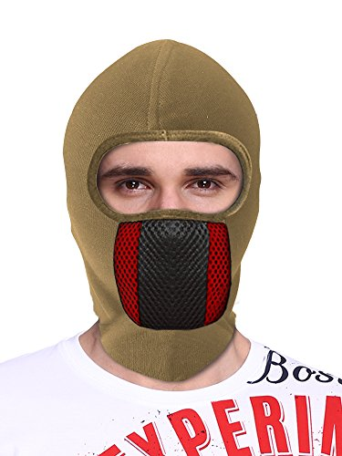 Big Tree® Pro Bike Riding & Cycling Anti Pollution Dust Sun Protecion Full Face Cover Mask (Brown)