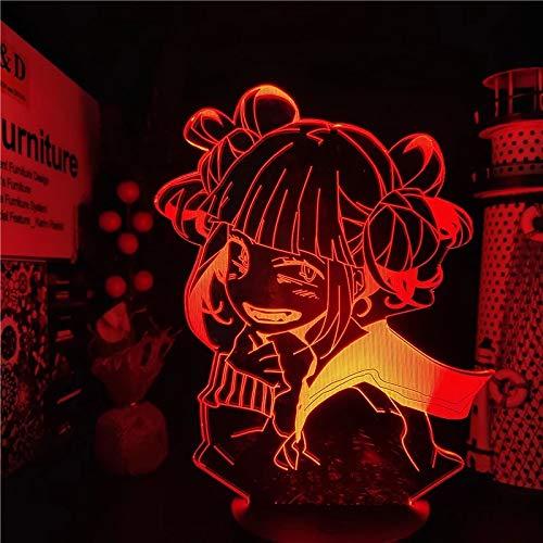 Hermoso personaje de anime 3D lámpara de mesa acrílico LED multicolor luz nocturna LED decoración regalo