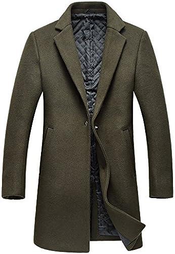 Manteau de poil hommes hommes hommes, hommeteau de poil long hommeteau de poil,,vert,xl