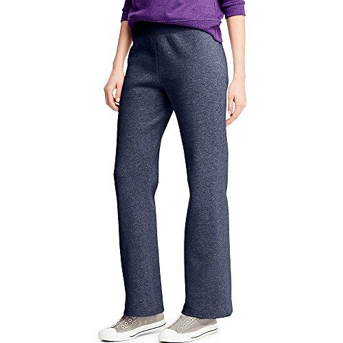 Hanes Women's Petite-Length Middle Rise Sweatpants - Medium - Hanes Navy Heather