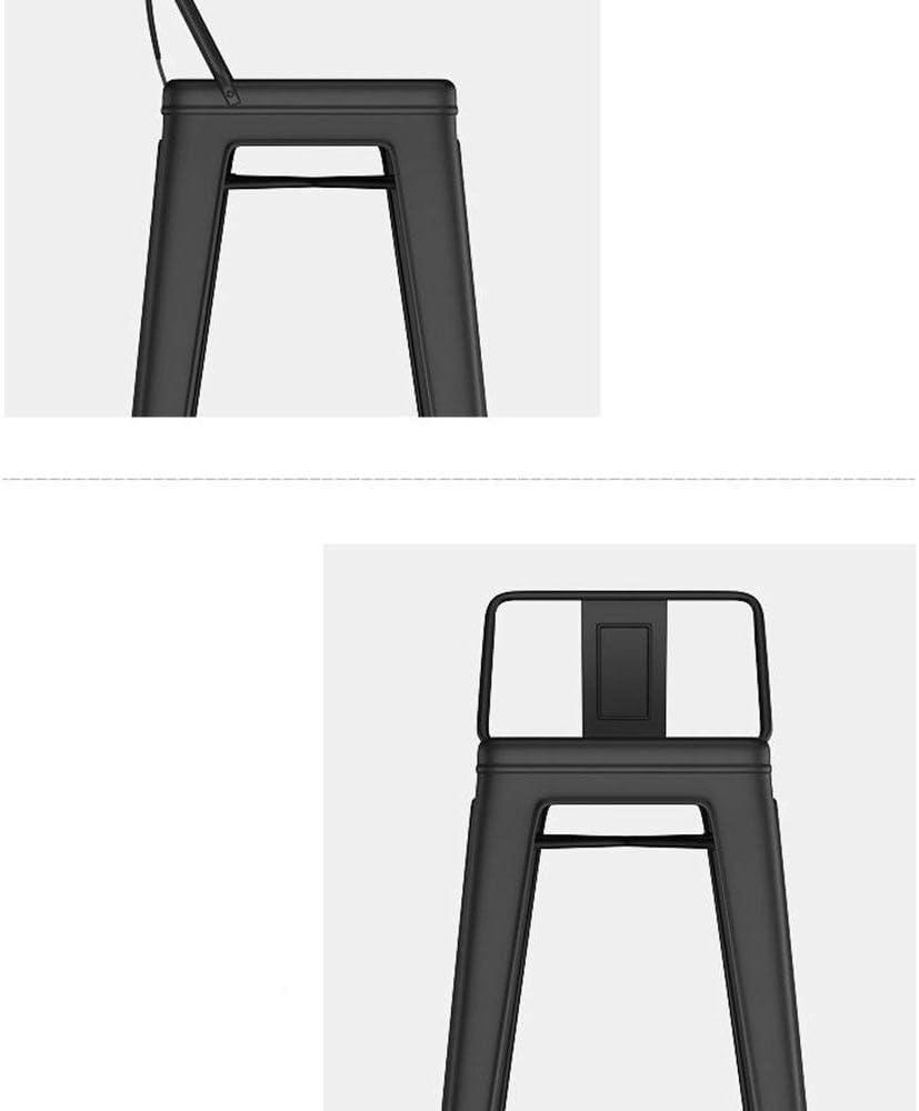 WZF Chaise de Salle à Manger Confortable Chaise Longue Négocier Les chaises Tabouret en Bois Massif Chaise de Dossier de café Solide et Durable (Couleur: B) A