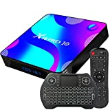 Android TV Box 11, 2GB RAM 16GB ROM Android 11 Compatible con 4K 3D H.265, RK3318 Dual-WiFi 2.4g / 5g Smart TV Box con Mini Teclado HDMI USB 3.0