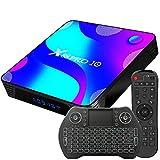 Android TV Box 11, 2GB RAM 16GB ROM Android 10 Compatible con 4K 3D H.265, RK3318 Dual-WiFi 2.4g / 5g Smart TV Box con Mini Teclado HDMI USB 3.0