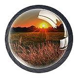 Tirador para Muebles El Sol poniente Perilla del cajón Cristal Manija del Armario Moderno Tiradores Armario Decoración de la Oficina en casa 3.5x2.8cm