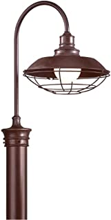 Troy Lighting Circa 1910 1-Light Outdoor Post Lantern - Old Rust Finish