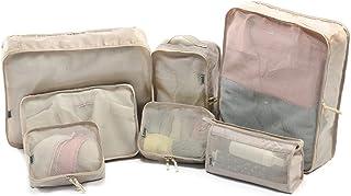 Sac de rangement de voyage imperméable, ensemble de 7, sac de rangement pour organisateur de bagages, sac de rangement de ...