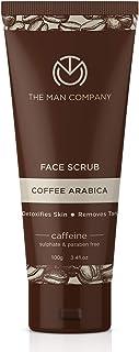 The Man Company Coffee Scrub for face, Face Exfoliating Scrub (100 ml) - Coffee Face Scrub with Caffeine, Aloe Vera and Vi...