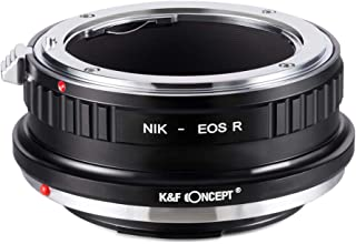 K&F Concept- Adaptador Lentes para Montar Nikon F/AI/AIS/D/AF-S a Canon EOS R Camara (NIK-EOS R)