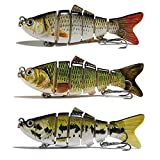Trout Fishing Bait 6 Knots Fish Bait Slow Swimming Bait Freshwater Saltwater bass Bait Lifelike Men's Fishing Gift (E)