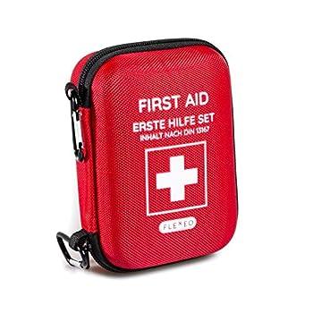 Trousse de premiers secours Voyageur idéale pour l'extérieur, les voyages, la moto et le sport selon la norme DIN 13167 (kit de base)