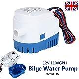 Ballshop 12V1100GPH Automatic Submersible Bilge Auto Water Pump Automatic Submersible Bilge Pump Fully Auto...
