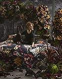 Essenza, biancheria da letto Filou, fiori peonie, tulipani in raso di cotone, blu scuro, 135 x 200 cm + 1 federa 80 x 80 cm