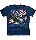 The Mountain Eagle Talon Flag Adult T-Shirt, Blue, 2XL