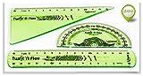 Regla Metalica 3 UNIDS MAPEED REGLATA Soft Soft SOFTSETE Conjunto DE PROPIETAMIENTO DE Triangle DE LOS PROTRATORES Transparentes DE LOS Estudios DE Estudios 895024 Regla (Color : Green)