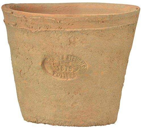 Esschert Design Pot de fleurs rond en terre cuite 9 cm de haut, style ancien