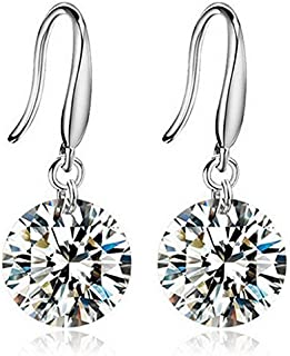 Yellow Chimes Elegant Crystal Stylish by Yellow Chimes Silver Plated Drop Earrings for Women (Silver) (YCFJCR-185SPDRP-SL)