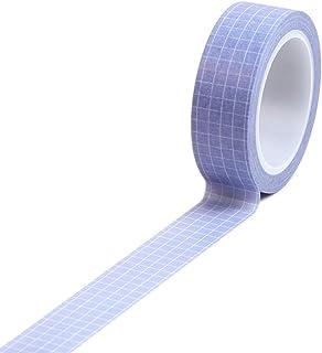AchidistviQ 10 M Grille Adhésive Washi Masking Tape Planner DIY Scrapbooking Autocollant Papeterie Simple Main Compte Déco...
