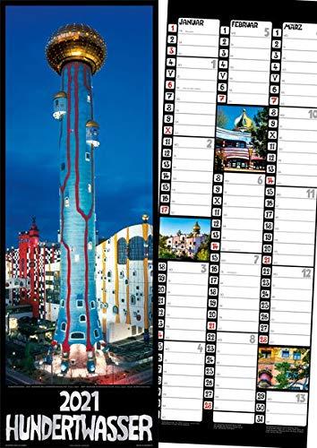 Hundertwasser Streifenkalender Architektur 2021