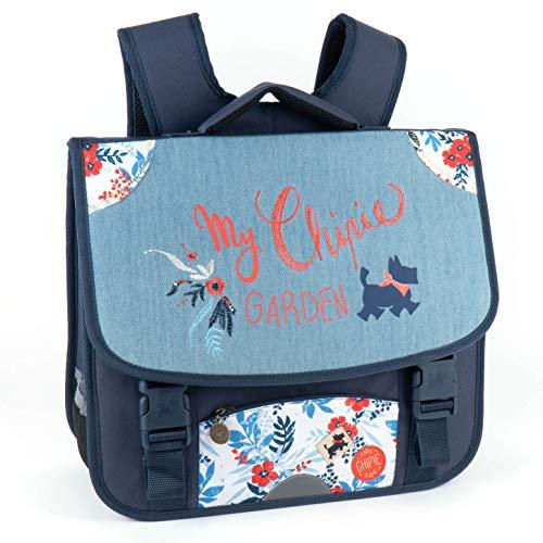 Chipie My Garden - Mochila con 2 Compartimentos, Capacidad 16,30 litros, 33 x 38 x 13 cm, Color Azul