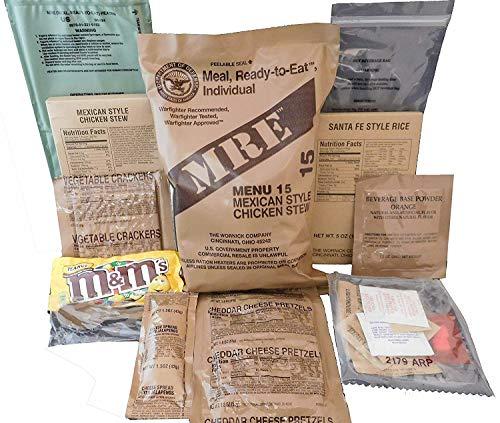 Militar US Army MRE NATO Relación de Alimentos de Emergencia Combate Supervivencia Camping Comida Menú 1-24