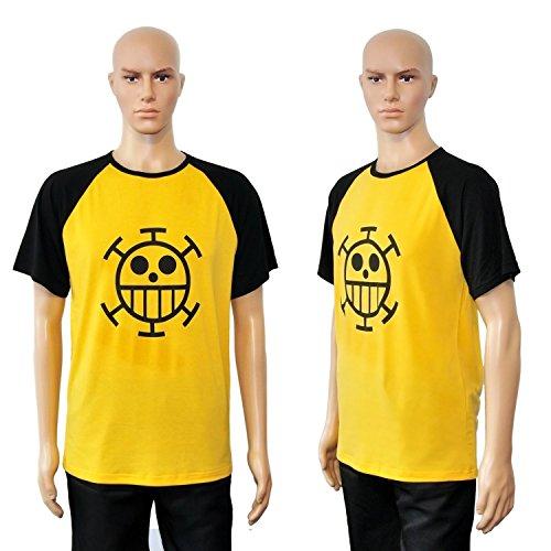 CoolChange Camiseta de Trafalgar Law con Jolly Rogers, símbolo de los