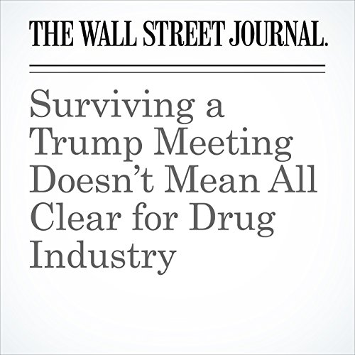 Surviving a Trump Meeting Doesn't Mean All Clear for Drug Industry copertina