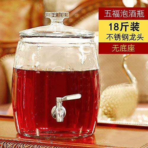 Modern wastafel wastafel kraan wastafel kraan HTC glas wijnfles met toonaangevende wijn lege fles brede mond verdikt ginseng geneeskunde pot verzegeld tank 5 kg huishouden,18 kg roestvrij staal kraan