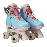 Circle Society Classic Adjustable Indoor and Outdoor Childrens Roller Skates - Classic Cotton Candy, 12-3 US