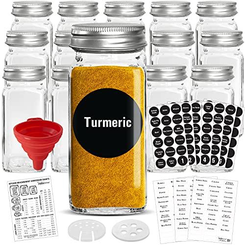 Glass Spice Jars, 4oz