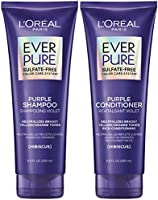 L'Oreal Paris EverPure Brass Toning Purple Shampoo and Conditioner Kit, 8.5 Ounce, Set of 2 (Packaging May Vary)
